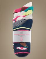 Marks and Spencer 5 Pair Pack Sumptuously Soft Ankle High Socks