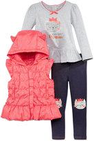 Nannette 3-Pc. Plaid Vest, T-Shirt & Leggings Set, Toddler Girls (2T-4T) & Little Girls (2-6X)