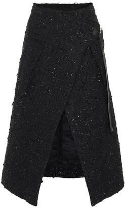Moncler Genius 2 1952 tweed midi skirt