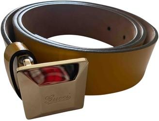 Gucci Yellow Patent leather Belts