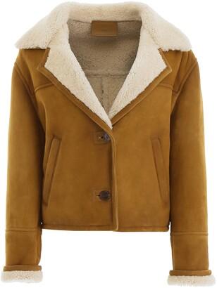 Prada Shearling Buttoned Jacket
