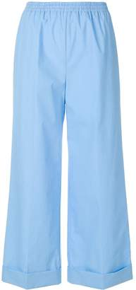 Ermanno Scervino wide leg cropped pants