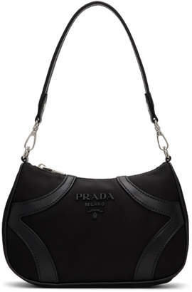 Prada Black Hobo Bowling Bag