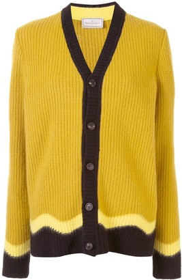 Pierre Louis Mascia Contrast-Trimmed Ribbed Cardigan