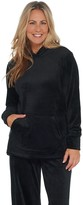 Isaac Mizrahi Live! SOHO Plushed Velour Pullover Hoodie with Pocket
