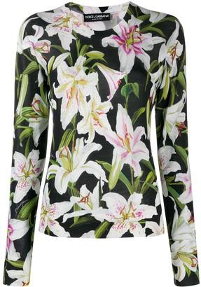 Dolce & Gabbana floral-print jumper