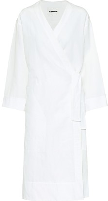 Jil Sander Exclusive to Mytheresa Cotton and linen wrap dress