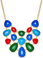 Charter Club Gold-Tone Colored Stone Statement Necklace, Only at Macy's