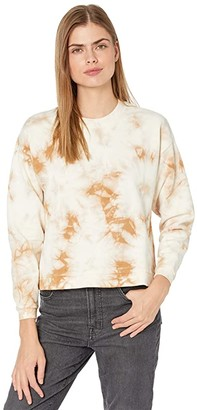 Madewell MWL Airyterry Tie-Dye Swing Sweatshirt (Earthen Sand) Women's Sweatshirt