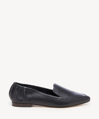 Sole Society Women's Breck Elastic Back Loafers Black Size 5 Haircalf From