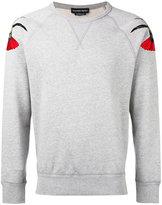 Alexander McQueen embroidered patch sweatshirt - men - Cotton - XL