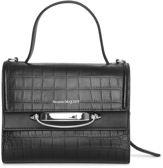 Alexander McQueen The Story small croc-effect leather bag
