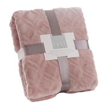 Elle Decor Bracket Trellis Embossed Plush Blanket - Full/Queen Bedding