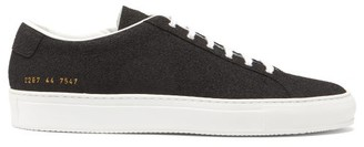 Common Projects Achilles Textured-leather Low-top Trainers - Mens - Black White