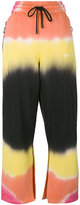 Off-White tie-dye striped trousers - women - Cotton - S