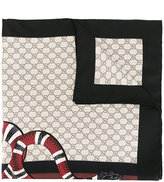 Gucci Web and snake print GG scarf