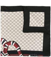 Gucci Web and snake print GG scarf