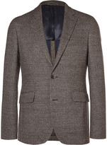 Hackett - Brown London Slim-fit Checked Knitted Blazer