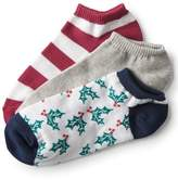 3-Pack Holly, Solid & Striped Ankle Socks