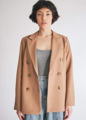 Farrow Women's Kelsey Blazer Jacket in Camel, Size Small | Spandex