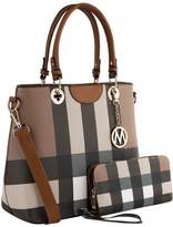 Mkf Collection By Mia K. MKF Collection by Mia K. Women's Totebags - Tan & Brown Plaid 2-in-1 Gaby Tote