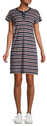 Madewell Striped Henley Dress