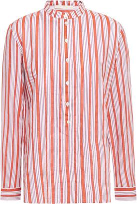Vanessa Bruno Ilea Striped Cotton-blend Jacquard Blouse