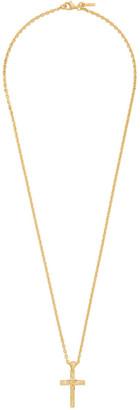 Emanuele Bicocchi Gold Cross Pendant Necklace