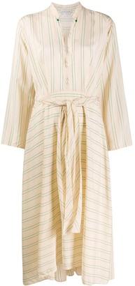 Forte Forte Striped Midi Dress