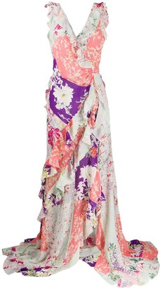 Etro Silk Patchwork Print Dress