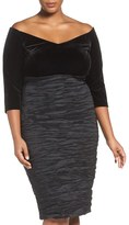 Alex Evenings Plus Size Women's Off The Shoulder Sheath Dress