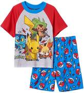 AME Sleepwear Pokemon Big Boys Character Shorts Pajama Set