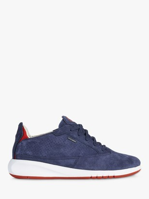 Geox Women's Aerantis Leather Trainers, Navy