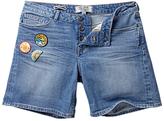 Fat Face Badged Denim Shorts, Denim