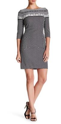 Taylor Novelty Knit Fair Isle Dress