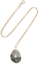 Cvc Stones Einstein 18-karat Gold, Stone And Diamond Necklace