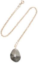 Cvc Stones Einstein 18-karat Gold, Stone And Diamond Necklace