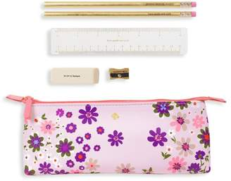 Kate Spade Pacific Petals 6-Piece Pencil Case Set
