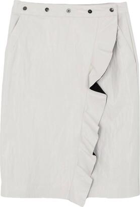 Nude Knee length skirts