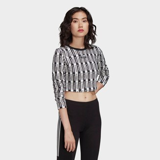 adidas Women's Crop Long-Sleeve T-Shirt