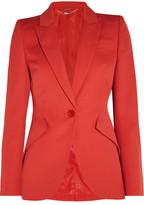 Alexander McQueen Wool-crepe Blazer - Red