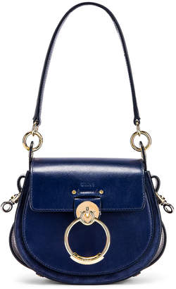 Chloé Small Tess Shiny Calfskin Shoulder Bag in Captive Blue | FWRD