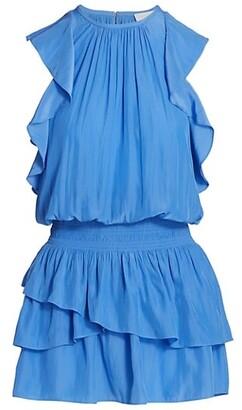 Ramy Brook Rooney Flutter-Sleeve Mini Dress