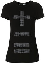 Love Moschino embellished cross T-shirt