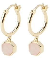 Gorjana Power Gemstone Charm Huggie Hoop Earrings