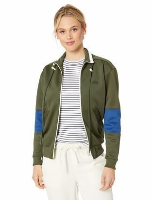 Lacoste Women's L/S Neoprene Color Block Zipped Sweatshirt