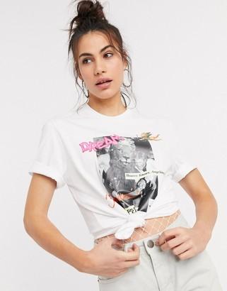 Fiorucci studio 54 graphic t-shirt in white