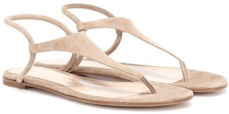 Gianvito Rossi Anya suede thong sandals