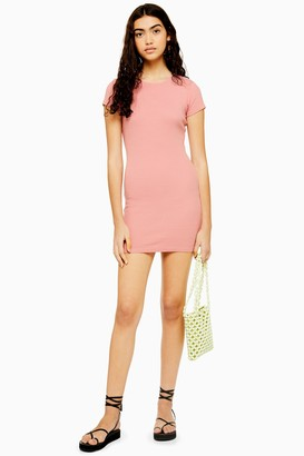Topshop Womens Pink Capped Tunic Dress - Pink