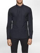 Calvin Klein Platinum Skinny Fit Stud Poplin Shirt